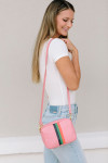 Clare V Midi Sac Woven Stripe Bag Side Model View
