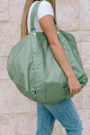 Clare V. Giant Trop Bag Green Model View