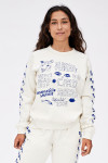 Clare V. Graphic Sweatshirt Front View Model