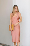 Cami NYC Marty Silk Midi Dress FRont View
