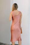 Cami NYC Marty Silk Midi Dress Back View
