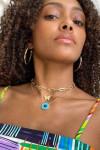 Jennifer Zeuner Danai Necklace Turquoise Model View