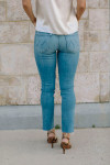 Mother Mid Rise Dazzler Ankle Fray Back View
