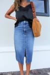 Ba&sh Dona Denim Skirt Front View