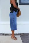 Ba&sh Dona Denim Skirt Side View