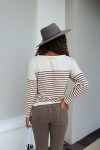 Closed Stripe Tee Back View