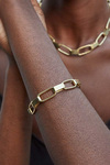 Soko Capsule Link Gold Bracelet Model View