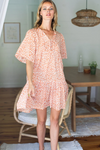 EMERSON FRY Isla Tier V-Neck Dress Front View