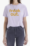 MOTHER Slouch Freak Out Cut Off Tee Front View