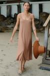 RACHEL PALLY Hemp Rib Van Dress Front Walking View