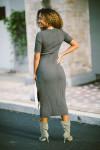 STATESIDE Scoop Midi Dress Back View