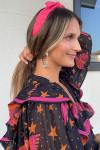 Farm Rio Macaw Longsleeve Sheer Maxi Dress