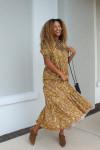 Saylor Kirstin Smock Tiered Maxi Dress Model View