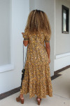 Saylor Kirstin Smock Tiered Maxi Dress Back View