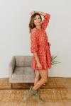 Xirena Symone Tie Waist Longsleeve Print Dress
