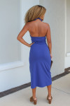 Susana Monaco Halter Open Front Midi Dress