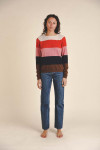 Birds of Paradise Renee Cashmere Stripe Sweater Outfit view