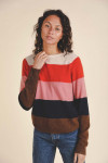 Birds of Paradise Renee Cashmere Stripe Sweater Detail View