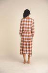 Birds of Paradise Ainsley Long sleeve Gingham Dress Back View