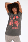 Clare V. Original Fit Graphic Tee in LA Front View