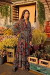 Farm Rio Rauti V-Neck Print Blouson Sleeve Maxi Dress