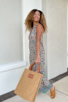 Lola Sapphire Maxi Dress Model View