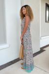 Lola Sapphire Maxi Dress Side View