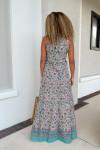 Lola Sapphire Maxi Dress Back View