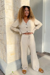 RD Style Ribbed Cardigan Pant Set Front View