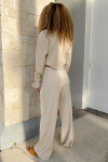 RD Style Ribbed Cardigan Pant Set Back View