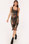 Cami NYC Britt Floral Fitted Sleeveless Midi Dress