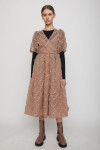 Just Female Lulu Short Sleeve V-Neck Tiered Dress