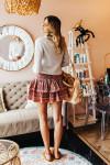Omika Pari Ruffle Mini Skirt