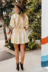 SWF Mini Collar Short Sleeve Dress