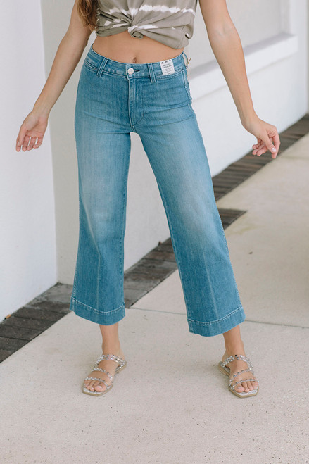 Amo Audrey Wideleg Jean Front View