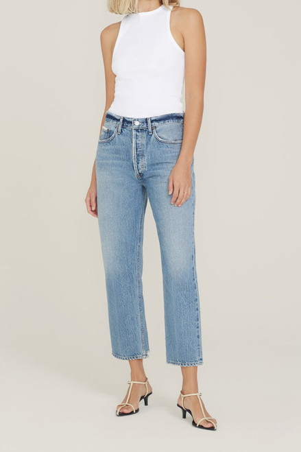 Agolde Lana Crop jean front view