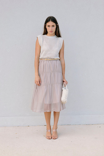 Just Female Pompano Sheer Skirt front view