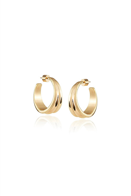Jenny Bird Pleated hoops Front View