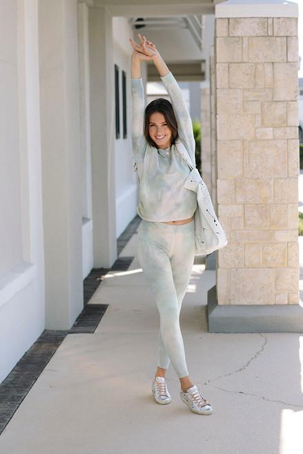 Sundry Tie-Dye Yoga Pant Front