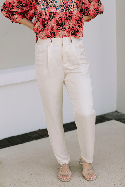 Scotch and Soda Linen Jogger Front