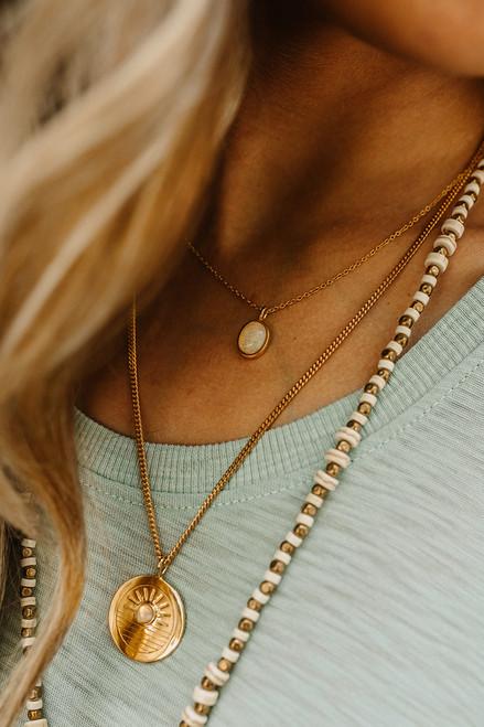 Sierra Winter moonflower opal necklace