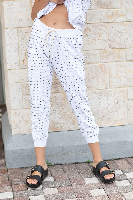 The Great swiss dot crop pant Front view