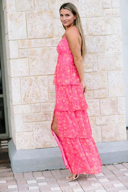 Amanda Uprichard Thaddea Maxi Dress Side View