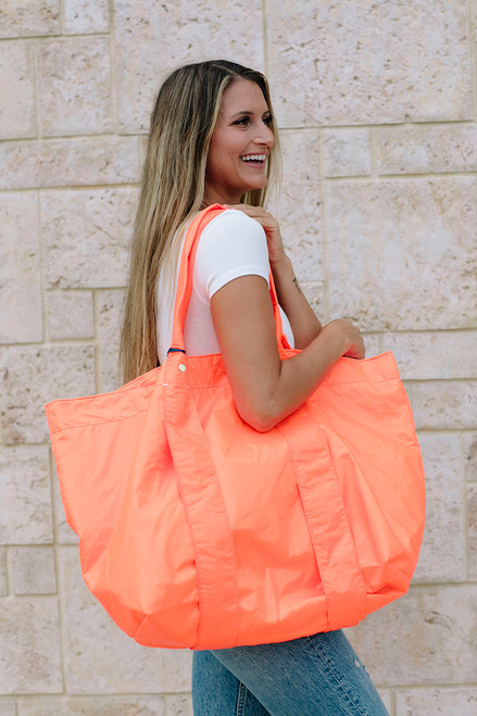 Clare V. Giant Trop Tote Model View