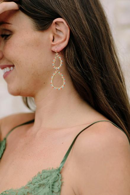 PT Sky Beaded Drop earrings