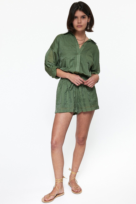 Cami NYC Contanse Romper Ivy Front View