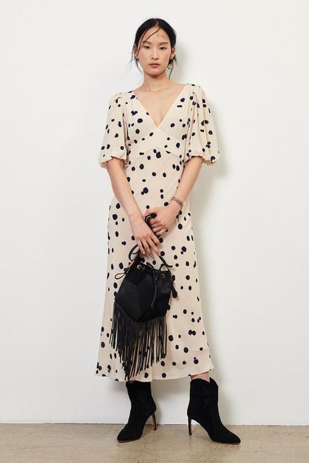Ba&sh Delize Scatter Dot Dress Front View