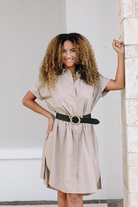 Just Female Noria Shirt Dress Model Front View