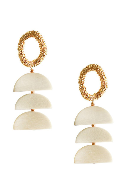 Adriana Pappas Half Moon Drop Earrings Ghost image