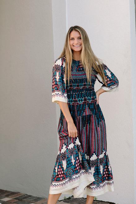 Ba&sh Mandie Midi Dress Front View